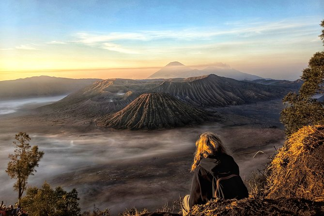 Get ready to be picked up at 11.30 PM by our driver and professional guide who will take you to Bromo area in Probolinggo. After departing from Surabaya or Malang, you will reach the destination in 3 hours. Then, we will continue the trip by Jeep (4 WD) to enjoy the bumpy road towards Mt. Penanjakan which is the best spot to enjoy the breathtaking scene of Bromo sunrise. Driving down the hill, you will pass the vast sea of sand, resulting from the eruption of Mt. Bromo, in a 30 minute-easy track all the way to the peak. From the crater rim, you can see the active Bromo crater, caldera and the mountainous views of Mt. Batok and the highest mount in Java Island, Mt. Semeru. Also, you can find the Hindu temple reflecting the Majapahit Kingdom history. Next, you can enjoy the breakfast at Lava view restaurant and return to Surabaya.