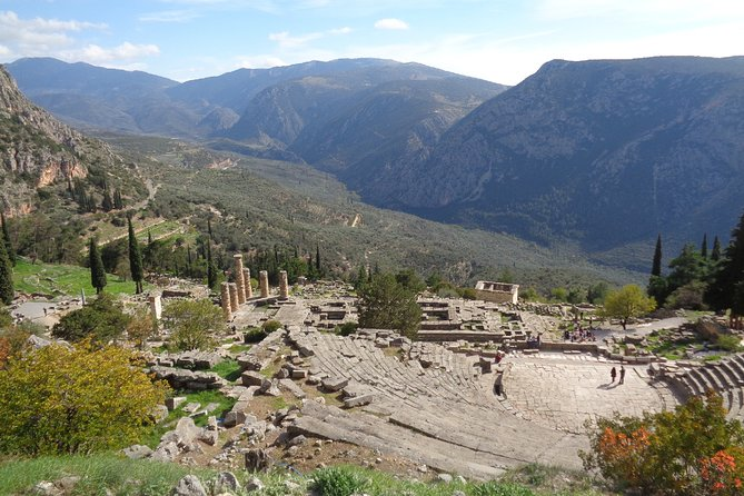 Experience the archeological site of Delphi from the comfort of your home with an engaging self-guided virtual tour, narrated in English, from your PC or smartphone browser. It's so simple! You will receive an email with the tour link with instructions and, in a couple of minutes, you will travel back in time and enjoy a virtual journey from the comfort of your couch!<br><br>Through the power of storytelling combined with street and satellite views, you will learn not only about historical facts but also discover unknown stories and tales of ancient and modern times that will amaze your family and friends. The tour's content is the result of in-depth research, squeezed into brief intriguing stories that will make your virtual visit both engaging and informative. The tour is only available online and you can access it repeatedly and anytime.<br><br>This is an unmissable opportunity to gain valuable insights into Delphi and immerse yourself in the surroundings in an entirely innovative way.
