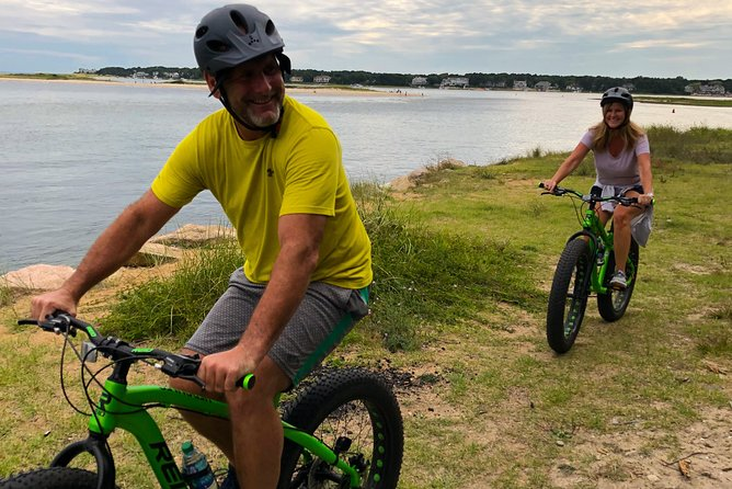 Knockabout Travel has the most unique bike tours on Cape Cod.<br><br>Fat-tire biking is an activity that will truly make you feel like a kid again. We will ride over gravel roads, a bit of easy single-track trail, and some beach. During the tour, we will stop at lands-end and catch a view of Vineyard Sound. Here, we can take a few photos with family or friends, then let some air out of the tires and take a ride along the beach for a unique Cape Cod experience. <br><br>Along the way, I will take photos of your group. At the end of the tour, I will email you a link where you can download any photos taken. All digital photo downloads are included with your tour.<br><br>In 2020, we can expect social distancing measures to apply well into the summer. This means avoiding packed beaches. But you can still enjoy the outdoors and avoid the crowds during this activity. Groups are limited to 5 riders, and tours can be booked as private upon request.<br>