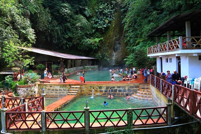 A beautiful half-day tour to the Fuentes Georginas hot springs. Soak in 4 thermal pools heated by the nearby volcanoes, surrounded by cloud forest.