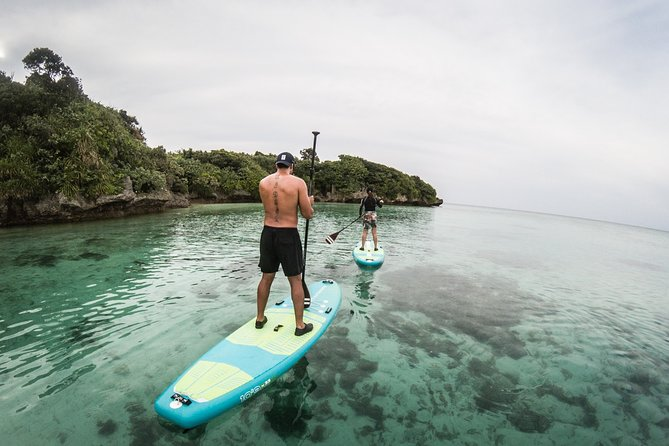 A stunning bay with perfect white sand and beautiful rocks emerging from the sea. <br><br>The most popular Stand-up Paddle Boarding tour for beginners and those looking for an idyllic scene of Japanese southern islands.<br>