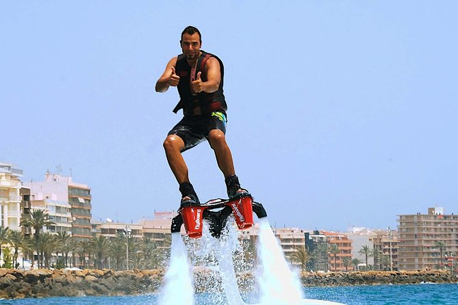 Have you ever dreamed that you could fly? We can make this dream true! It is very easy, just put the Flyboard and fly. . You will have a coach to guide you from this experience and helping to fly over the sea and swim like a dolphin in a few minutes.