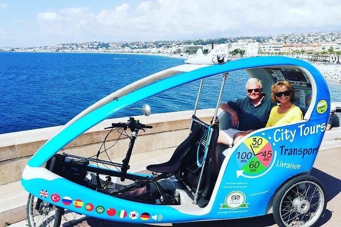 Visita guiada de la ciudad de Niza (opción de audioguía multilingüe gratuita) en vélotaxi eléctrico, Niza, FRANCIA