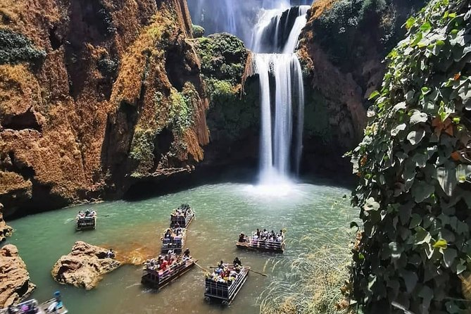 Travel to the Ouzoud waterfalls in the Middle Atlas Mountains, and enjoy a scenic drive past the olive groves and Berber countryside of the plains north of Marrakech. Enjoy amazing views of North Africa's longest cascades on this full-day excursion.