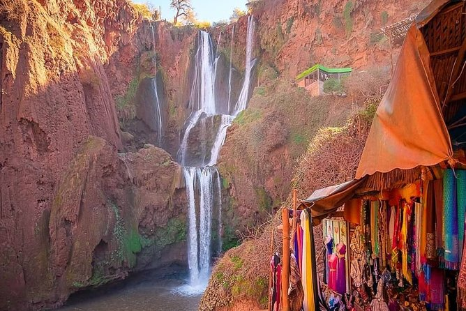 Discover one of Morocco's natural wonders on this day trip to the Ouzoud Waterfalls from Marrakech. Enjoy amazing views as you take in the stunning 110-meter waterfalls plunging down the cliffs. Be on the lookout for the resident monkeys. <br><br>Enjoy the beauty of the Ouzoud Waterfalls and see the resident monkeys<br>Discover the typical Berber villages of the High Atlas Mountains<br>Relax at a local restaurant and taste traditional Berber tagine