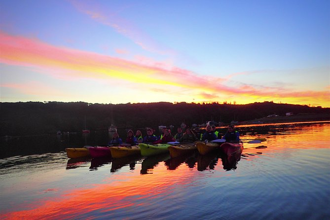 Sea kayak from dusk into darkness watching the beautiful sunset and rising moon on a sheltered bay, with the stars overhead and glowing bioluminescence all around you as you glide into the night. Available all year. Min 4 Max 16.