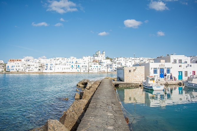 Experience a customized private tour of Paros and discover the best of the island. The perfect instruction to the famous landmarks, preserved villages, beautiful landscapes and beaches. Travel comfortably between locations in a deluxe, air-conditioned vehicle with an English-speaking professional driver. Hotel or port pickup and drop-off included in the rate. <br>• A private tour of 4 hours with stops at the main attractions of the island<br>• Travel in an air-conditioned, chauffeur-driven deluxe vehicle <br>• Hotel or cruise port pickup and drop-off <br>• Private tour ensures personalized attention <br>• Flexible departure time <br>• This private tour can be customized to suit your itinerary