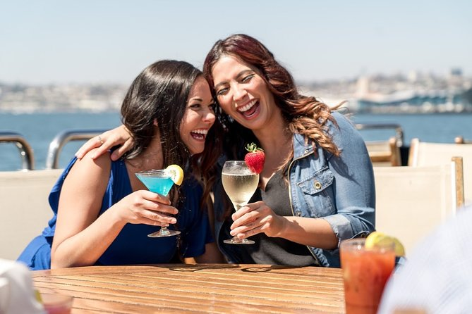 Make the most of a Sunday with a 2-hour brunch cruise through San Diego Bay. Capture prime views of the city skyline and harbor from a luxury yacht, and round out your morning bliss with bottomless mimosas and our new brunch menu with plated service includes breakfast favorites, vegetarian options, and so much more. Is outdoor seating. Listen to DJ tunes as the attentive crew constantly top off your glass. Shouldn't weekends always be like this?