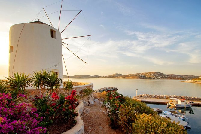 Experience a customized private tour of Paros and discover the island' secrets! A local guide who has lived on & explored this island for many years will introduce you to the famous landmarks, preserved villages, beautiful landscapes and beaches. Travel comfortably between locations in a deluxe, air-conditioned vehicle with a professional driver. Hotel or port pickup and drop-off included in the rate. <br>• A private tour of 6 hours with stops at the main attractions of the island<br>• English or French or German speaking local guide<br>• Travel in an air-conditioned, chauffeur-driven deluxe vehicle <br>• Hotel or cruise port pickup and drop-off <br>• Private tour ensures personalized attention <br>• Flexible departure time <br>• This private tour can be customized to suit your itinerary