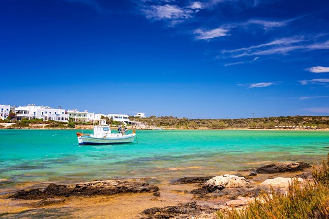 Experience a customized private tour of Paros and Antiparos and discover the islands secrets! A local guide who has lived on & explored this island for many years will introduce you to the famous landmarks, preserved villages, beautiful landscapes and beachs. Travel comfortably between locations in a deluxe, air-conditioned vehicle with a professional driver. Hotel or port pickup and drop-off included in the rate. <br>• A private tour of 8 hours with stops at the main attractions of both Islands<br>• English or French or German speaking local guide<br>• Travel in an air-conditioned, chauffeur-driven deluxe vehicle <br>• Hotel or cruise port pickup and drop-off <br>• Private tour ensures personalized attention <br>• Flexible departure time <br>• This private tour can be customized to suit your itinerary<br>