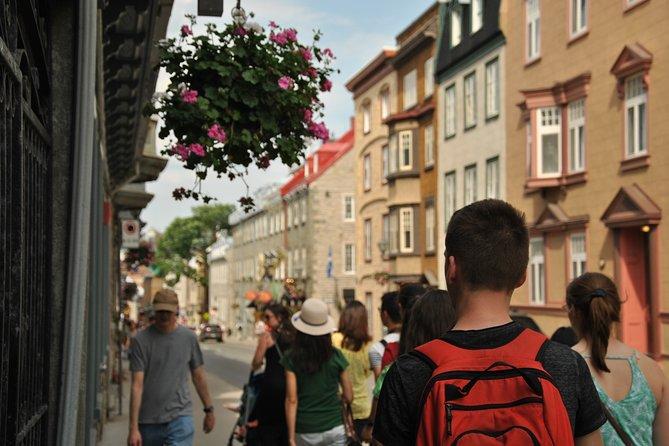 Excursão a pé pela cidade de Quebec história da cidade., Quebec, CANADÁ