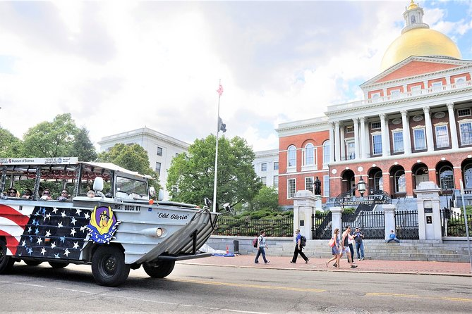 Water is no barrier for a duck, why should it be for you? A Boston Duck Tour is a wonderful way to get a great look at Boston on land and water. See all the major landmarks and hear the history of the city as you tour Boston in a renovated World War II amphibious vehicle.