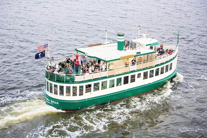 During this scenic and relaxing 90 minute tour you will experience Charleston Harbor on the unique 80-foot Carolina Belle. Your professional licensed captain will narrate history, sights, and facts about the Charleston Harbor as you pass locations critical to United States history. Enjoy the beauty of the Charleston Harbor and learn its rich history while you are in town.