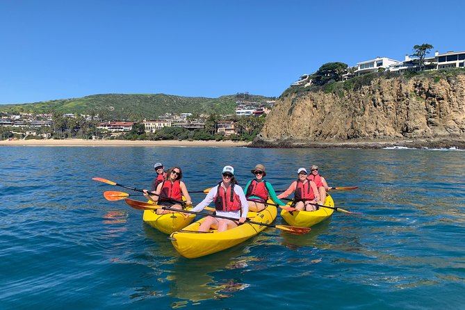 Take a guided kayak tour along Laguna Beach, one of the most dramatic coastlines in the world, filled with hidden beaches, contoured cliffs, clear ocean and abundant sea life, including sea lions, dolphins and whales.