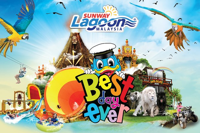 Head to Sunway Lagoon Malaysia in Selangor for the day and experience the wonders of more than90 rides and attractions spread across six themeparks: Water Park, Amusement Park, Extreme Park, Wildlife Park, Scream Park, and Nickelodeon Lost Lagoon. Youradmission ticket allows you to access all, excluding G-Force, Go Kart and Bungy Jump.