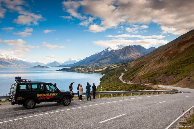 This tour brings you to the site of the signature scenes that were shot in the Queenstown Lakes region. This tour covers a lot of ground to show you the beautiful and varied sights of the area. For film enthusiasts, nature lovers, and adventurers alike, this really is the complete, exploring the rugged and beautiful Queenstown Lakes Region used by many filmmakers. For the morning, explore the beauty of the Head of Lake Wakatipu and the lush Paradise Forests. Bring the films to life with our authentic replica props, dress up for some photos, or simply enjoy the serenity. You will return to Queenstown for lunch at a local café before the afternoon tour begins. You will then set out to enjoy the sights around The Queenstown area. Explore more stunning filming locations, adventure off- road with river crossings in the Arrow, and venture down a historic and exciting mining road. You will see a spectacular panoramic view over the area before being returned to your hotel to end the day.