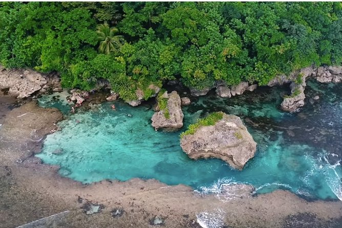 * Visit the Magpupungko Rock Pools for a dip in the clear blue waters and walk on the sandy white beach<br>* Capture natural beauty as you pass by a series of coconut trees along the famous Coconut Road<br>* Go rope-swinging at the Maasin River, which is quickly becoming a popular tourist destination for its novelty and more!<br>DESTINATIONS: Magpupungko Rock Pool, Cloud 9, Coconut Mountain View, <br>Maasin Coconut Road, Maasin River <br>