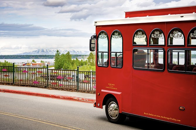 Hop aboard a red trolley in downtown Anchorage in front of the Visitor Information Center. Trolleys leave every hour, giving you some flexibility in your sightseeing schedule. The trolley covers 15 miles over the course of an hour.<br><br>Pass through the city's historic neighborhoods as your guide points out interesting trivia. Watch seaplanes make splash landings on Lake Hood and Lake Spenard, & travel through Earthquake Park to see the damages caused by one of the most powerful recorded earthquakes in North American history.<br><br>You'll also see the historic Alaska Railroad, Westchester Lagoon and maybe even some crossing moose. Your tour ends back at the departure point. Make use of your complimentary coupon book when you explore Anchorage on your own!
