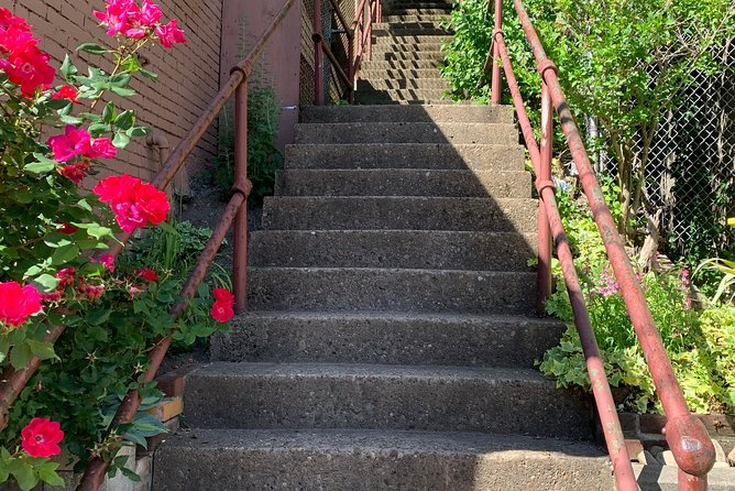 """While Pittsburgh is commonly known as the """"City of Bridges,"""" it also tops the charts in the number of public city steps. With over 800 stairways throughout many of its 90 neighborhoods, these """"paper streets"""" can be a fun place to explore. Join us on a stairway adventure through Troy Hill and Spring Garden.You'll learn about the history of this special form of pedestrian travel and two neighborhoods that played essential roles in the city's early economic development. Tour participants will also receive a complimentary copy of the bi-annual Mis.Steps 'zine ($12 value).<br><br>Comfortable and sturdy shoes are required. Please note that two flights on this tour require participants to climb up ~150 steps, go down two flights of ~100 steps, and occasionally navigate uneven terrain."""