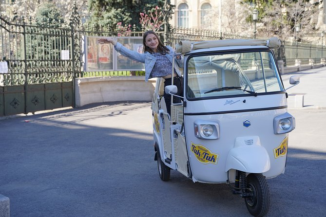 """Welcome to Bucharest"" Tuk-Tuk Tour is meant to be the funniest and most interactive tour you can have in Bucharest! <br>This is the first Tuk-Tuk service in the city and guarantees you a unique experience! With our Tuk-Tuk you'll feel better the city heat and you'll have the opportunity to be closer to all the major attractions of Bucharest!<br>If you spend only a limited time in Bucharest this is your first option to know the city!"