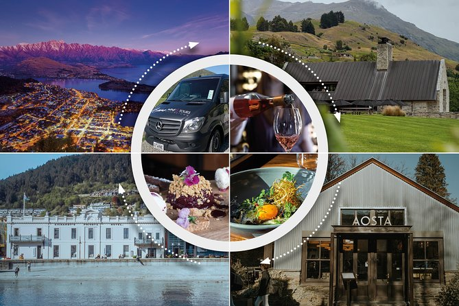 Experience some of Queenstown's most iconic settings as we take you on a social night out to meet new friends on the region's first progressive dinner tour with amazing local wines and stunning food.<br><br>Start your evening with a scenic drive out to internationally renowned Amisfield Bistro for your stunning wine tasting and entree overlooking the vines.<br><br>Take a drive through the historic gold rush town of Arrowtown and experience a delicious main paired with a perfect wine to match at Aosta.<br><br>Wrap up your night with a decadent dessert in the heart of Queenstown at the legendary Eichardt's Hotel and enjoy an after-dinner digestif by a roaring log fire.