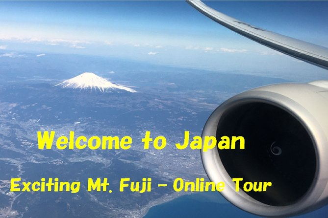 This is a two-way communication online virtual tour using Skype Conference System.<br>Based on the itinerary, some pictures and videos of sightseeing spots will be shown on your computer, and I will explain them.<br>We will visit three of the most popular Mt. Fuji viewing spots.<br><br>Note<br>- Meeting time will be fixed as per discussion with you, because we need to consider time difference.<br>- Videos may not work smoothly, in case of bad connection.