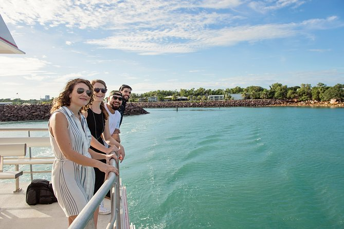 Take in the highlights of Darwin Harbour aboard a spacious catamaran. Cruise by Bicentennial Park, Lameroo Beach, Stokes Hill Wharf, Larakeyah Barracks and more. Live commentary provides insight on Darwin, important sites for the Aboriginal Larrakia people, the extensive damage suffered during World War II air raids and the devastation caused by Cyclone Tracy. Plenty of photo ops and great views await from the open sundeck or the air-conditioned cabin.