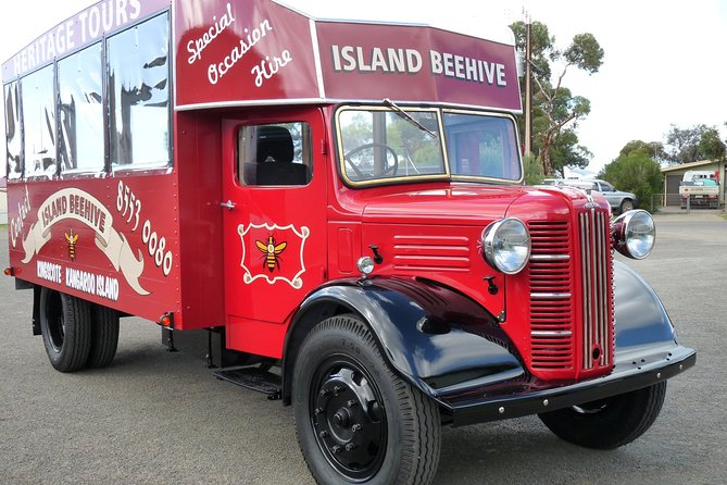 Mr Davis from Kangaroo Island Beehive rescued the abandoned Austin and has spent several years restoring it to its former glory. <br>Tougheder with Luca from KI Hire a Guide are now running this NEW TOUR aboard the restored Austin Van.<br><br>Passengers will board the truck for a 3 hour historic tour of Kingscote, including Reeves Point and Dover Farm finishing with local wine at Bay of Shoals Wines (valued at $10 pp) and a taste of gin at Kangaroo Island Spirits (valued at $20 pp).<br><br>Coffee, Tea and lamingtons for morning or afternoon coffee breaks!<br><br>Departure Time:<br><br>10.00AM <br>2.00PM <br><br>Notes:<br><br>Morning/afternoon coffee breaks is included in this tour. <br>Vine tasting fees are are included in this tour (valued at $30 pp excluding kids). <br>Min 2 passengers are required for this tour.<br>Max 10 passengers on tour, we are operating SMALL GROUP tours.<br>COVID19 Safe - We are cleaning our vehicles before and after the tours with special disinfectants spray + hand sanitizer available on board.