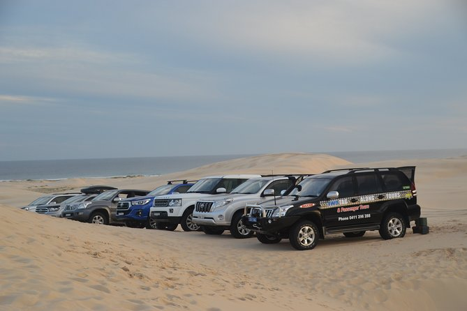 Don't have your own 4WD vehicle? No worries! This is the only 4WD Tour to take you on a Bush, Beach and Sand Dune Tour to see the hidden secrets of Port Stephens that only the locals know. Kick back and relax while someone else does the driving for you!