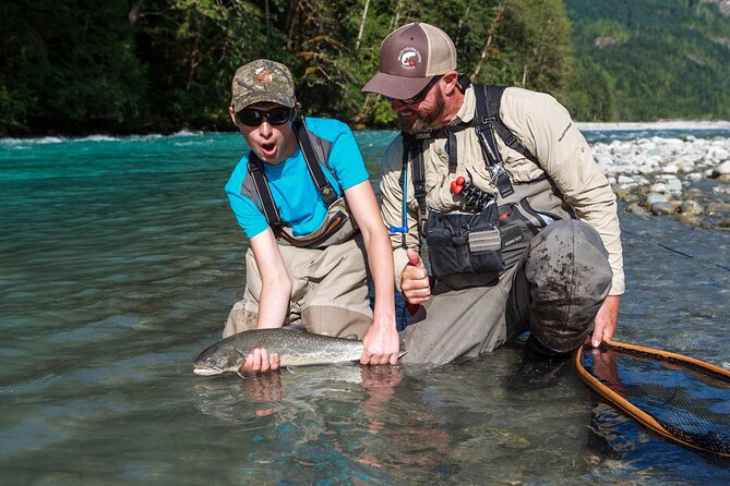 Valley Fishing Guides has offered guided fly fishing trips for salmon, trout, steelhead and char in the Squamish and Whistler area for over 20 years. <br>Beginner through advanced anglers are welcome to try the half day or full day trips where fly casting and fishing techniques are covered on lakes or rivers. All trips are catch and release!<br><br>Certifications & Safety Training<br>Tourism Certified Professional - FWG : emerit Professionally Certified Freshwater Angling Guide<br>Transport Canada Certified with Small Vessel Operator Proficiency (SVOP) and MED A3, Radio Operators Certificate - Maritime<br>Federation of Fly Fishers CI Certified Casting Instructor<br>First Aid: OEC & Wilderness First Responder & WFA CPR & AED<br>Swiftwater Rescue Technician I<br>Class 4 Driver's Licence (Commercial)<br>World Fly Fishing Championships (3 times)<br><br>Equipment: Only the best in fly fishing equipment is provided on their trips including: waders (SIMMS), Boots (Simms), Rods and Reels (SAGE) are provided on all trips. <br><br>