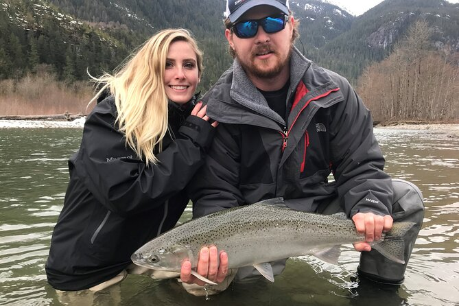 Valley Fishing Guides has offered guided fly fishing trips in the Squamish and Whistler area for over 20 years. <br>We offer fly fishing for wild rainbow trout, bull trout, cutthroat trout, salmon and steelhead. Mid to late September the coho salmon will begin to return to our system followed by the chum in late October and November.<br><br>Certifications & Safety Training<br>Tourism Certified Professional - FWG : emerit Professionally Certified Freshwater Angling Guide<br>Transport Canada Certified with Small Vessel Operator Proficiency (SVOP) and MED A3, Radio Operators Certificate - Maritime<br>Federation of Fly Fishers CI Certified Casting Instructor<br>First Aid: OEC & Wilderness First Responder & WFA CPR & AED<br>Swiftwater Rescue Technician I<br>Class 4 Driver's Licence (Commercial)<br>World Fly Fishing Championships (3 times)<br><br>Equipment: Only the best in fly fishing equipment is provided on their trips including: waders (SIMMS), Boots (Simms), Rods and Reels (SAGE) are provided on all trips. <br>