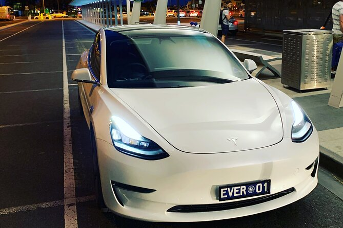 Transfer in a luxury Tesla Model 3 pure electric vehicle with EVER TRANSFERS. Access to chauffeur parking area closest to terminal. Help with luggage. Friendly, experienced driver. Recommendations of interesting things to do and see in Adelaide and surrounding areas. Tours also available...eg if you are staying in the Barossa, book a half day or full day tour and the transfer is included!