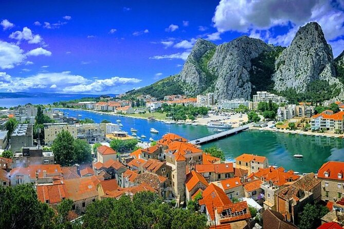 Spice up your vacation by visiting the historic pirate town in Croatia, Omiš. Experience the Zipline across the canyon of the river Cetina or take a boat ride along the river to the popular picnic area of Radmanove mlinice.<br>Must see on your visit to Omiš is fortress Mirabela, a four-storey fortress with a tourist lookout point. It is one of the most famous symbols of Omiš, and it is most easily reached by a street that passes by the church of St. Spirit inside the old town, and to the top you need a ten minute walk.<br>You can choose the desired time and date of departure from Makarska, and we will take care of a relaxing and pleasant drive. While driving to Omiš, we will make a short stop to the lookout point Dubci, it's a perfect place with a view of Brač and Hvar islands, together with a beautiful view of the Adriatic sea, from 288 meters above the sea level, pictures that you can take here will be a perfect reminder of a vacation on the stunning Croatian coast.<br>