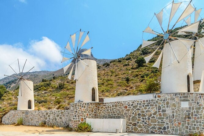 The tour includes a trip to Plateau of Lassithi, Cave Of Zeus and Lasinthos Eco Park. During the tour you will learn more about the mythology and history of Crete, you will watch artisans, taste raki the Cretan schnapps and local snacks.