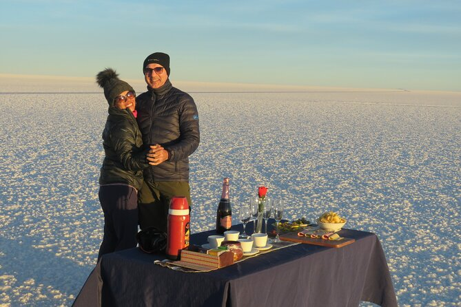 Visit the Salar de Uyuni in a comfortable private car with excellent personal service. Observe Andean landscapes with local wildlife and flora. Enjoy lunch in the great Salar de Uyuni during your day trip. Gaze upon a spectacular sunset upon return to conclude your tour.