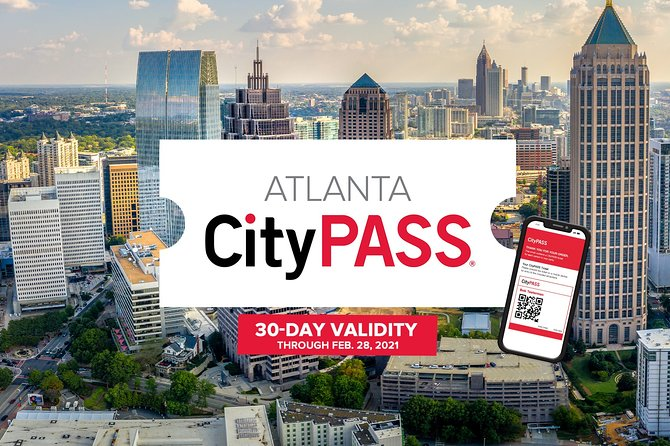 Atlanta CityPASS® —Save 40% at Atlanta's five best attractions. See amazing animals, fun pop culture, inspiring history, fascinating natural science and more with Atlanta CityPASS tickets.<br><br> Discover Atlanta's best attractionsat great savings, now with 30 days of extended validity – perfect for multiple day trips, vacations, or exploring your home city! Enjoy instant delivery of convenient mobile tickets. <br><br>Includes prepaid admission to 5 must-see attractions: <br>• Georgia Aquarium<br>• World of Coca-Cola<br>• CNN Studio Tours<br>• Choice Ticket 1: Choose between Zoo Atlanta OR National Center for Civil and Human Rights <br>• Choice Ticket 2: Choose between Fernbank Museum of Natural History OR Chick-fil-A College Football Hall of Fame <br><br>Visit the CityPASS online travel guide for important attraction information including reservations, entry instructions, hours of operation & helpful tips to plan your visit: https://www.citypass.com/guide/atlanta/howto<br>