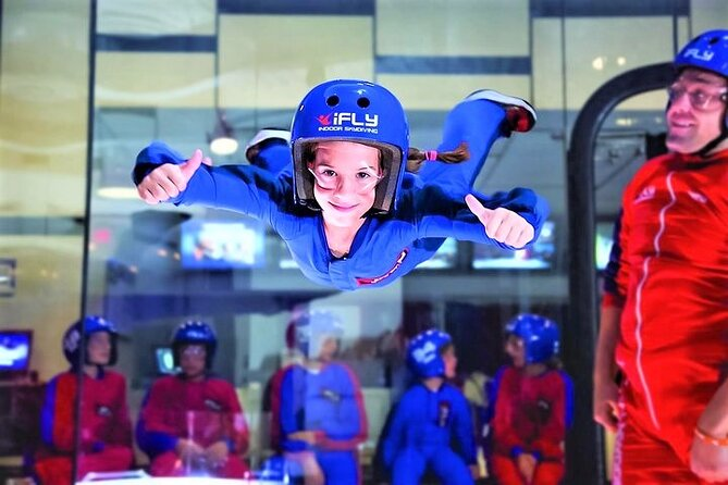 Feel the thrill of skydiving without jumping out of an airplane. It's true! Head to iFLY Montgomery, a premier indoor skydiving facility powered by a state-of-the-art vertical wind tunnel. After a training session, you'll experience free-fall conditions with the help of an instructor. No experience is necessary, and afterward, you can take home a personalized flight certificate.