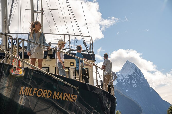 Head out on a 2-hour cruise in the pristine wilderness of the southern Fiordlands of Milford Sound. From thundering waterfalls, to mile-high mountains and lush green forests, take in the breath-taking views from the expansive deck. If the weather turns to a moody, ethereal grey and raining wonder-land, seek shelter inside, but don't miss a moment of the majesty through the perfectly positioned glass windows. <br>This cruise will trace along the entire fiord and out to the Tasman Sea, before heading back down the other side. Get up close and personal with the glacial spray of the waterfalls, and keep your eyes peeled for the wildlife that call this magical place home.<br><br>Please note: this service may operate on Real Journey's vessel the Milford Mariner, or it may operate on Go Orange's Milford Haven. Please contact our customer service team to find out more information. <br>Paid Parking - $20 for 5 hour duration as set by Milford Sound Tourism LTD.