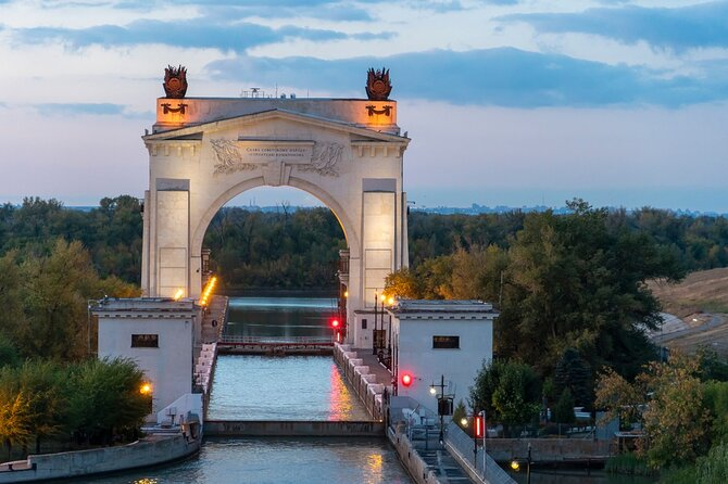We will visit the Volga side of the canal, in the suburbs of Volgograd and see the first lock and its gates dominated by a beautiful arch. The Canal museum will reveal exciting facts about the building, history and work of the canal and navigation.