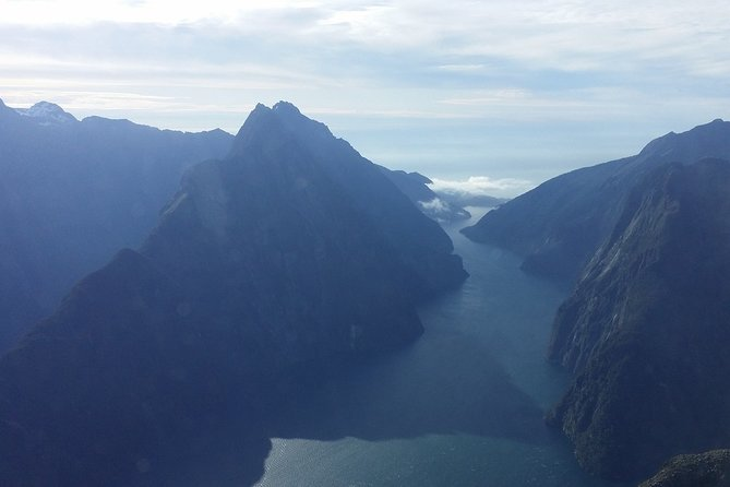 Depart Milford Airport and track west along Milford Sound, climb alongside Bowen Falls and Mitre Peak for some great views of the sound and its towering peaks before returning to our Milford base. <br><br>Minimum of two passengers are required for this flight to go ahead.