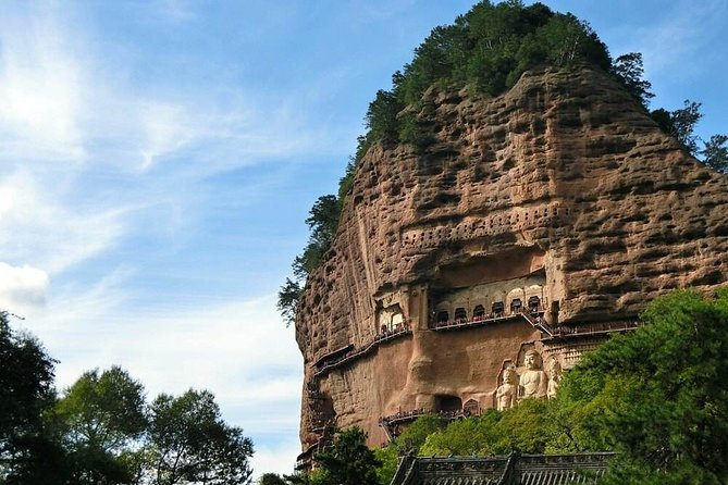 The day tour mainly includes Maijishan Grottoes, the world cultural heritage and one of the four greatest grottoes in China. This less visited grotto is the highlight of Tianshui and honored as the Exhibition Hall of Oriental Sculpture Art.