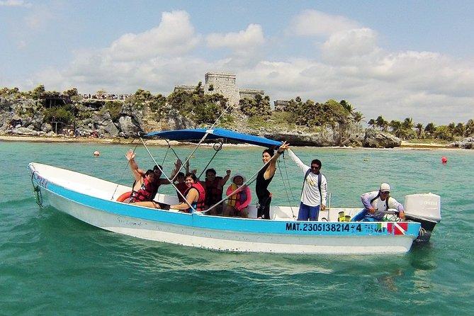 Combo de excursões Discovery 3 em 1: ruína de Tulum,mergulho com snorkel nos corais além de Cenote e cavernas, Playa del Carmen, MÉXICO