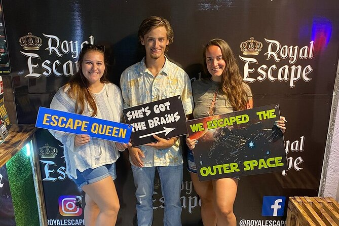 Located at 477 Richard Jackson Blvd, Panama City Beach, FL 32407, USA, please check in 15-minutes prior to your game start time. Outer Space Escape Room is an exciting, immersive game that takes you back in time. <br>Here's how it works: You and your team are in a room and have one hour to complete a mission and escape. Escaping will require teamwork, quick thinking, determination and a sense of urgency. From the moment you step into your game, you'll be totally immersed in our world.<br>Each game is designed for 60-minutes of intense fun! Plan to spend 15-minutes prior to each game preparing for your mission, and 15-minutes after each game to debrief and take photos. Perfect for everyone from families to thrill seekers to corporate groups, our intensely energetic games and enthusiastic customer service will turn your hour of game play into a lifelong memory.<br>Free parking is located in the lot in front of our building.