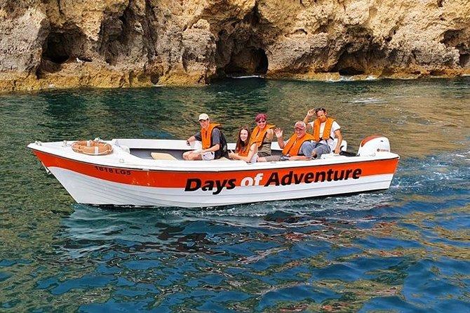 Passeio de barco ao longo da costa de Lagos para visitar as grutas da Ponta da Piedade e conhecer as praias, Lagos, PORTUGAL