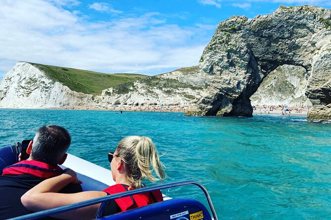 Leading the waves in Jurassic Coast Experiences! Your own private boat tour for 5 guests, from either Weymouth or Portland. Get close to Wildlife and the famous sights of this World Heritage Coastline. We often spot Bottlenose Dolphins, Mallards, Cormorants, Razorbills, Chaffinches and Barrel Jellyfish. We provide you with the best opportunities to photograph and view nature afloat.<br>You can choose from a fast paced thrill ride to a Leisurely coastal cruise, this making it an excellent choice for families. <br>Our local English speaking Skippers are experts with knowledge of the Jurassic Coastline and finding the best places to find wildlife. <br><br>We operate all year round daytime and sunset cruises available.