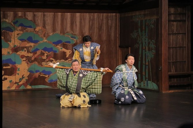 """In addition to watching Kyogen, you will learn the historical background of Korakuen and Kyogen. <br>After the performance, you can go up on the Noh stage, which is not usually open to public, and take pictures with the performers.<br>This experience is offered in Japanese and English, with readings in Japanese, English, French, Korean, and Chinese (simplified and traditional), making it a great experience for a wide variety of people.<br><br>Kyogen is said to come from the same source as Noh, also a traditional Japanese art form.<br>While Noh is based on myths and historical stories and mainly consists of dance, Kyogen is a comedic performance of stories from daily life. <br>It does not use any large scale stage set, but expresses everything with words and gestures.<br>Kyogen is characterized by its ability to take ordinary people's daily lives and folk tales and turn them into a """"joke"""" by highlighting human habits and natures."""
