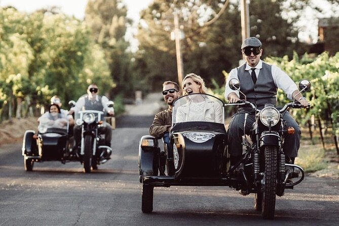 Date nights can be tough to plan sometimes. We have always loved visiting wine country, tasting its rich history, and enjoying the freedom of the backroads on a motorcycle. <br><br>We figured why not give someone else the opportunity to experience all of the things we love in a new way! So, we decided to modify the standard motorcycle sidecar to accommodate two passengers and now we have the world's first and only tandem sidecars, which is one of the things that makes us so special.<br><br>Our goal is to give winery goers a unique, fun, and intimate way to get to know this beautiful wine region with our knowledgeable drivers. <br><br>We don't want to be just another mode of transportation between wineries. We want to immerse our guests in Temecula's culture, history, and how it became what it is today.