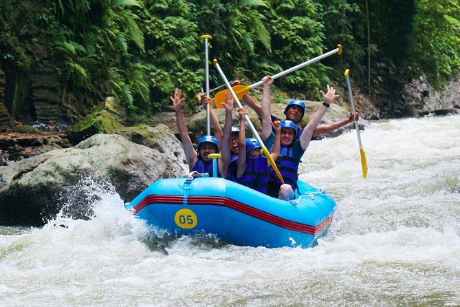 Enjoy White Water Rafting Experience at Ayung river in Bali with Buffet lunch. The river is class II and may rise to class IV during rainy season which is great for an unforgettable White Water Rafting experience. Expert and experienced guides will give you an insight into the river ecology and amaze you with their dexterity and skills in this classic adventure tour. Below are the option for you to choose:<br><br>1. Rafting and Lunch only.<br><br>2. Rafting, Lunch, plus Private Hotel Transfers.<br><br>This will be the best choice for you who looking for: Things To Do in Bali, Bali White Water Rafting, Bali River Rafting, Rafting in Ubud, White Water Rafting.