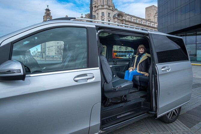 This is the only daily half day private Liverpool Tour available with a qualified Blue Badge Tour Guide and its unique feature is the use of luxury transport for up to 6 guests to see all the wonderful sites of the city centre and the suburbs and perhaps Iron Men statues on Crosby Beach. <br><br>Your local fun tour guide will show you all of their favourite places and hopefully after the tour you will truly take a piece of this magnificent city away with you.<br><br>You will have free time to buy souvenirs and the tour can include the pretty village of Port Sunlight and other places on the opposite side of the River Mersey. Its a great tour for a gift or that special occasion and you can tailor it especially for you. <br><br>We do not have to include Beatles on this tour and we can adapt it to suit your friends and family in your social bubble when we meet you.<br><br>This luxury tour is a luxury licensed Mercedes V-class which is sanitised and includes bottled water and free WI-FI.