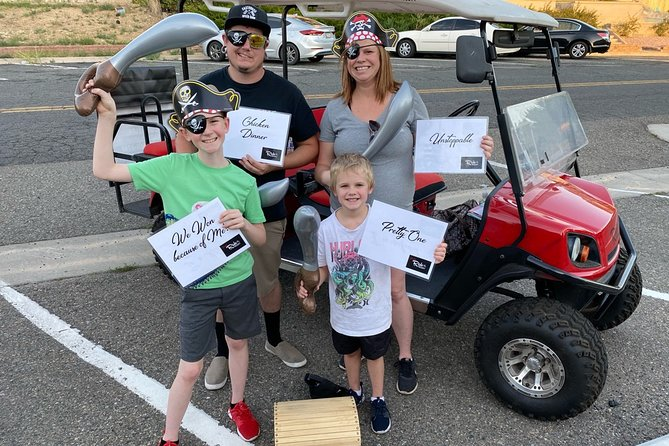 Just like an escape room, the puzzles and clues are challenging to figure out - you'll need team work to make it happen! Unlike an escape room, you're outdoors, enjoying the time with family and friends and visiting places you might have otherwise passed by!